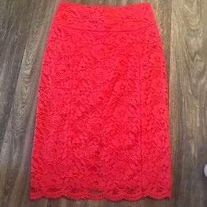 Express pencil skirt. Lace design.